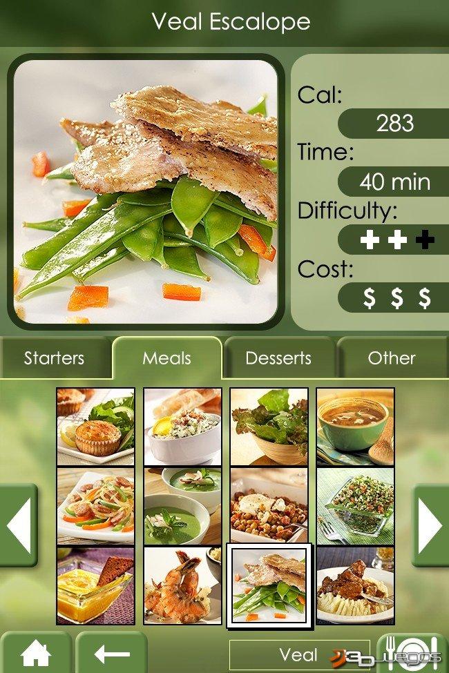 Mi experto en cocina comida saludable para ds 3djuegos for Cocina saludable