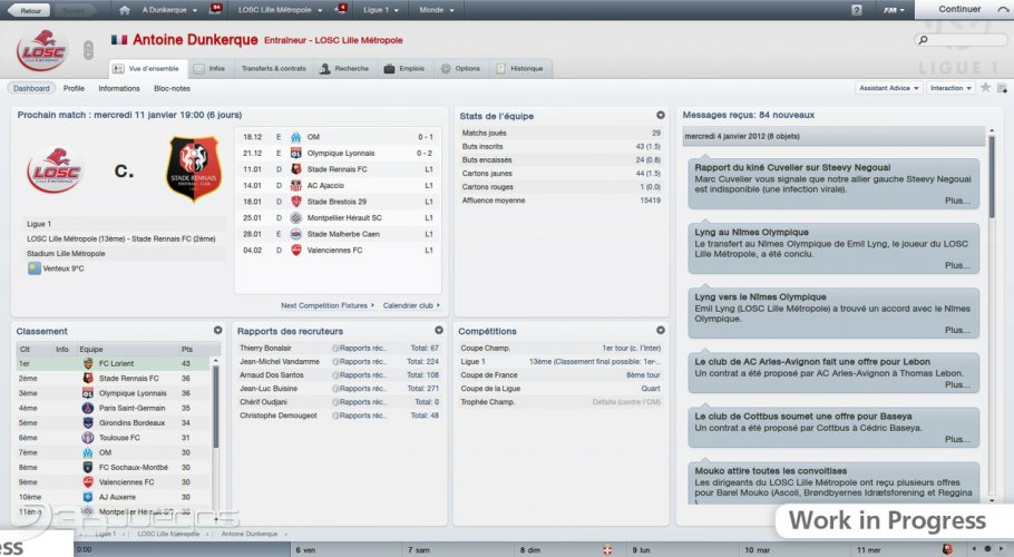 Football manager 2012 - Impresiones jugables