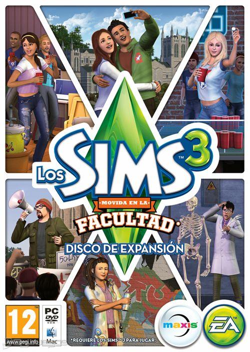 Los Sims 3: Movida en la Facultad Xbox Ps3 Ps4 Pc jtag rgh dvd iso Xbox360 Wii Nintendo Mac Linux