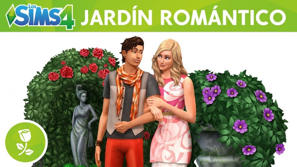 Video de los sims 4 jard n rom ntico pack de for Accesorios de jardin