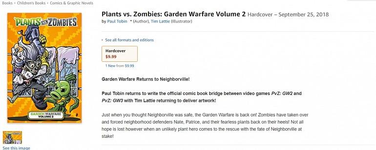 La descripción del cómic apunta a la llegada de Garden Warfare 3.