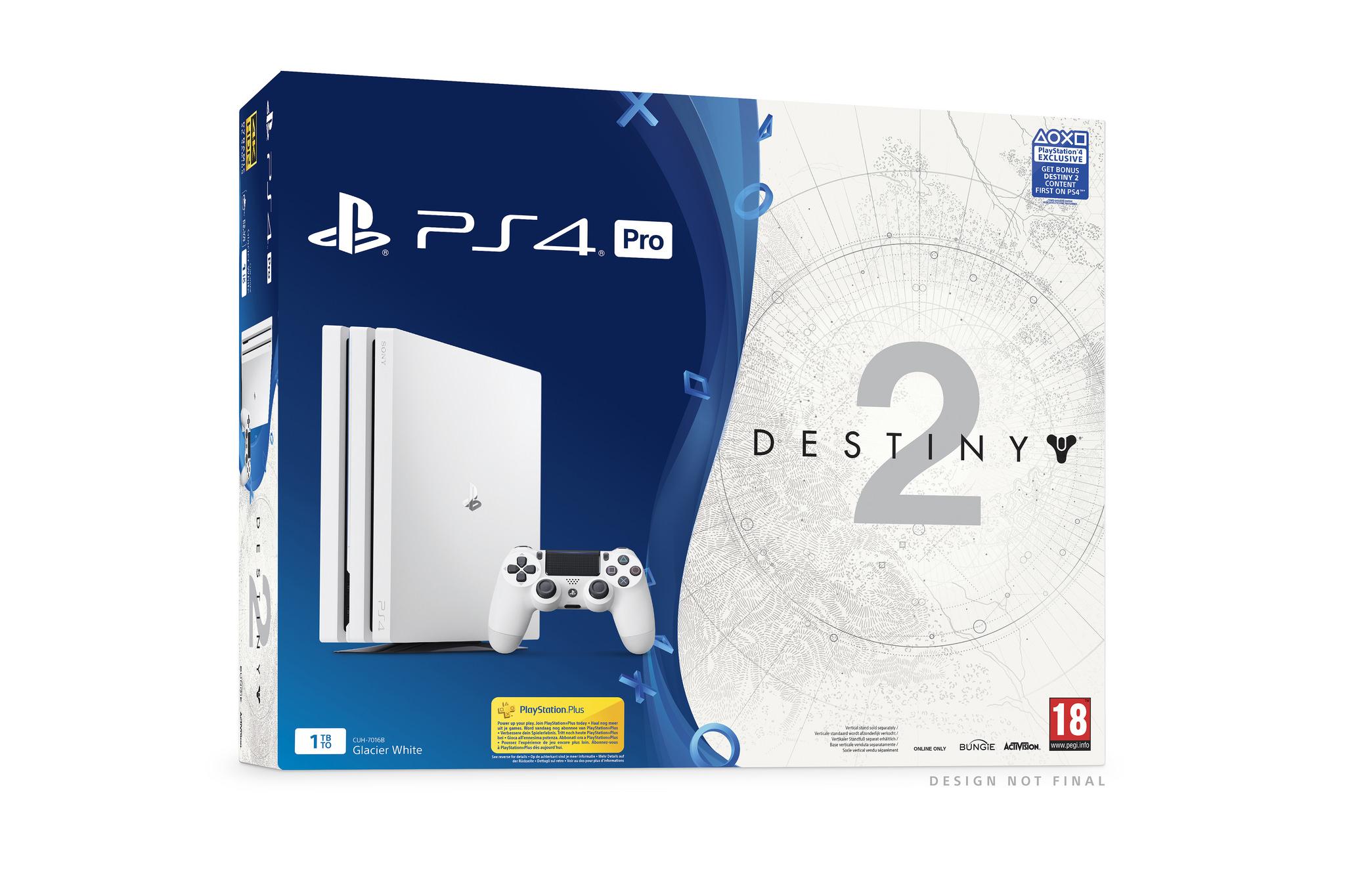 Destiny 2 llegará a las tiendas con un pack de PS4 Pro blanca