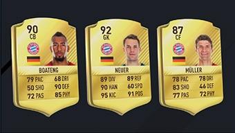 Video FIFA 17, Medias de los Jugadores