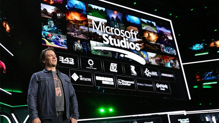 Phil Spencer durante la conferencia de Microsoft en el E3 2018
