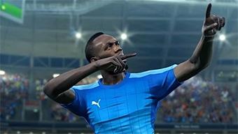 Video PES 2018, Un día con Usain Bolt