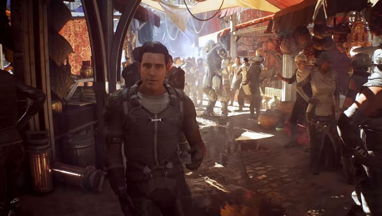 Los primeros minutos de la demostración de Anthem en E3 2017 eran en primera persona.