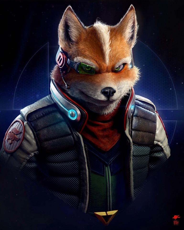La nueva ilustración de Star Fox realizada por el director de arte de God of War de PS4.