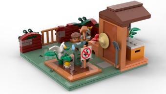 Que Untitled Goose Game se convierta en set de LEGO depende de ti