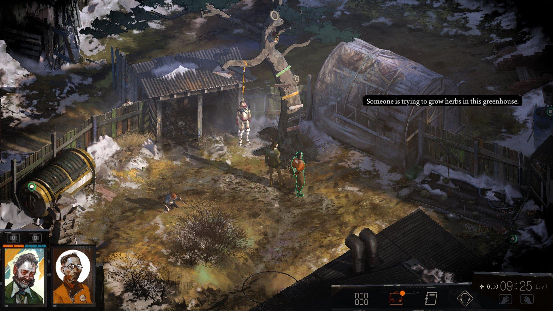Imagen del gameplay de Disco Elysium