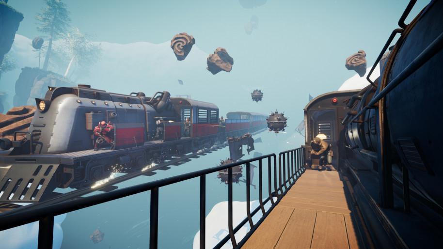 Voidtrain: Viajes entre dimensiones, mucha acción y un tren volador en VoidTrain, un curioso juego de acción
