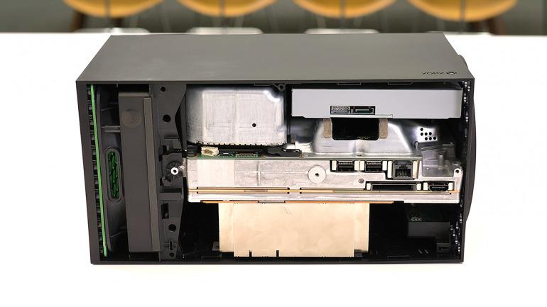 Disposición de la refrigeración en Xbox Series X. // Imagen: Digital Foundry.