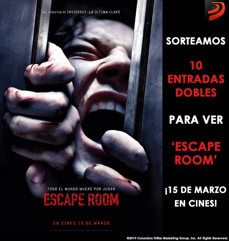 Sorteamos 10 entradas dobles para la película 'Escape Room'