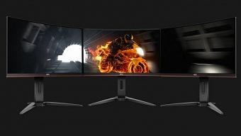 AOC anuncia nueva serie de monitores curvos a 144 Hz para jugar