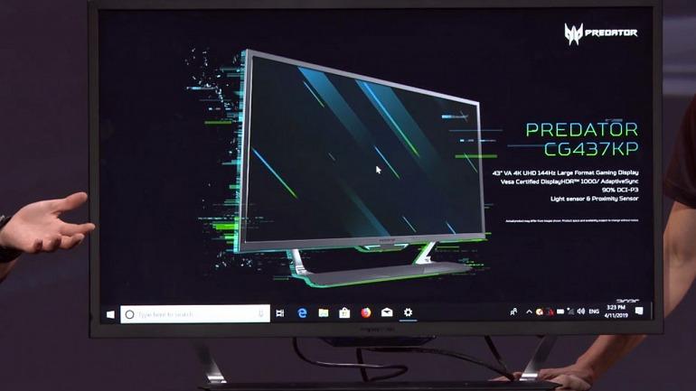 El nuevo monitor de Acer de 43 pulgadas es como una TV grande, pero pensada para jugar