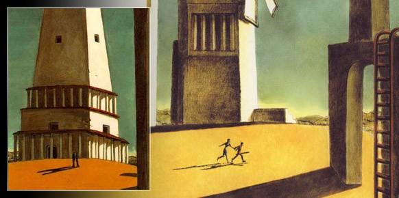El cuadro de Giorgio de Chirico La Nostalgia del Infinito, idéntico en cuanto a estilo a la carátula del genial ICO.