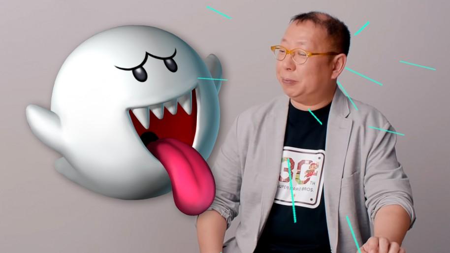 El personaje Boo de SM64 está basado en la mujer de Tezuka, que suele ser tranquila, pero un día explotó porque pasaba demasiado tiempo en Nintendo. De ahí la conducta del fantasma.