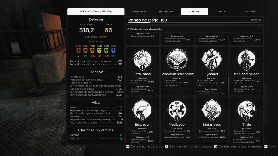 El sistema de rangos es también bastante interesante. Va a caballo entre los atributos clásicos y los niveles infinitos de Diablo 3 o Borderlands.