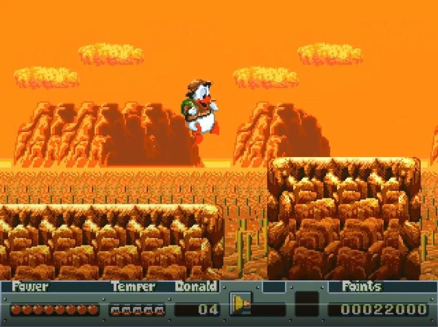 """El juego se puedo a la venta en occidente en navidades de 1991, recibiendo en Japón el título """"Alive! Donald Duck: Georgia Ou no Hihou"""""""