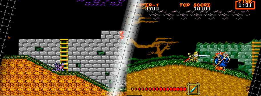 Sí, no es un videojuego de Sega, pero se sabe que la firma azul se tomó el port del juego de Capcom a Mega Drive como algo muy personal, con un excelso trabajo de Yuji Naka que hizo realidad uno de los ports arcade más meritorios de los 16 bits. En el paso a los 8 bits también se hizo un trabajo muy competente, llevando una de las mejores aventuras de Sir Arthur manteniendo muchas de las claves jugables y adaptando lo visual con éxito a las circunstancias técnicas de Master System.