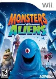 Carátula de Monstruos contra Alienígenas - Wii