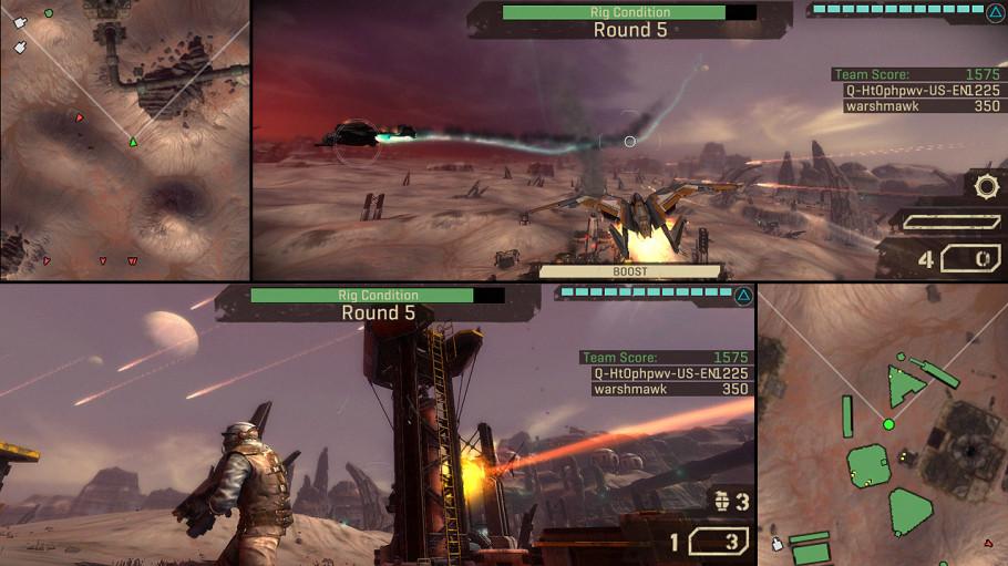 Starhawk Permitira El Juego A Pantalla Dividida Para Dos Jugadores