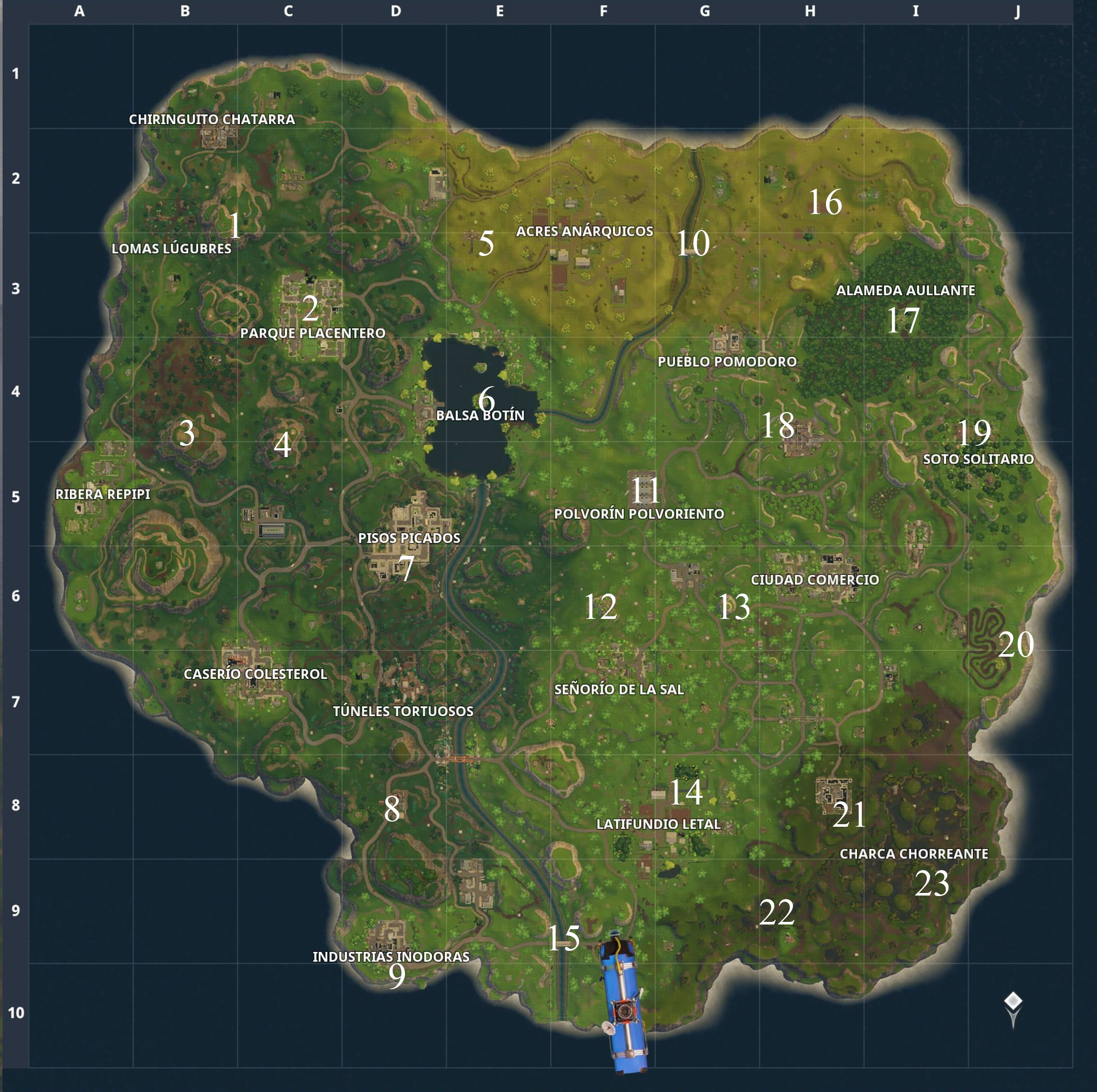Mapa Fortnite Temporada 4.Guia Del Tercer Desafio Semanal De Fortnite Battle Royale
