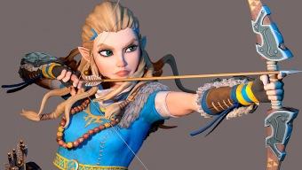 Zelda Breath of the Wild y Horizon Zero Dawn se fusionan en esta escultura digital