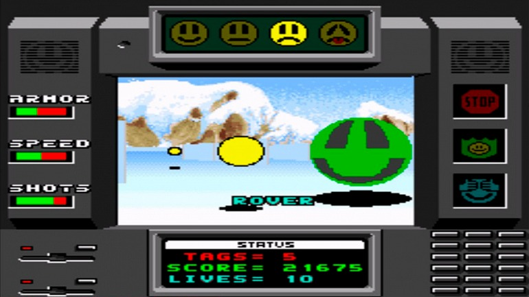Faceball 2000 en su versiónpara SNES.
