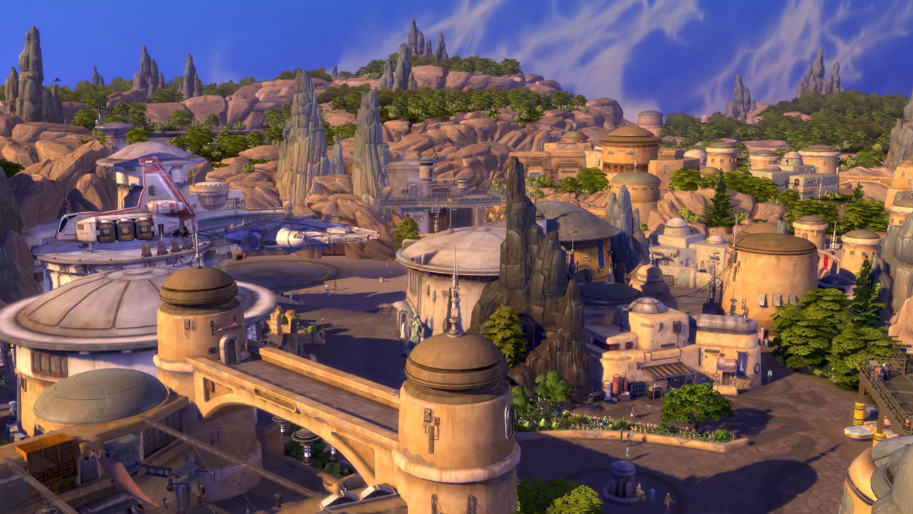 podremos recorrer el parque al jugar Los Sims 4 Viaje a Batuu jugar